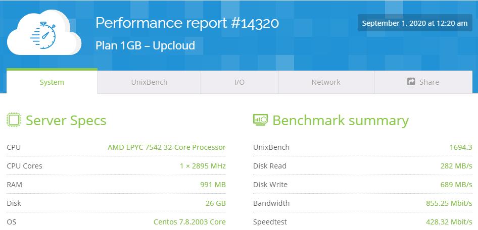 Test VPS serverscope 3